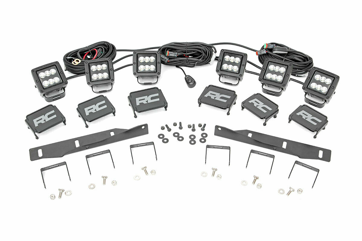 Ford Triple LED Fog Light Kit | Black Series (17-19 F-150 Raptor)