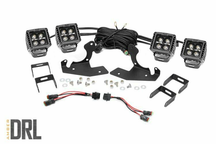 Chevrolet LED Fog Light Kit | Black Series w/ Amber DRL (07-13 Silverado 1500)