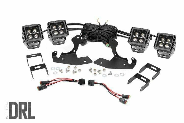 Chevrolet LED Fog Light Kit | Black Series w/ White DRL (11-14 Silverado HD)