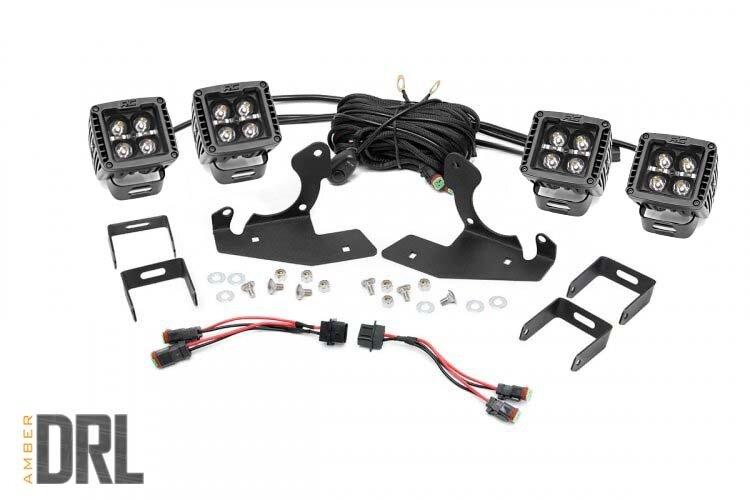 Chevrolet LED Fog Light Kit | Black Series w/ Amber DRL (11-14 Silverado HD)