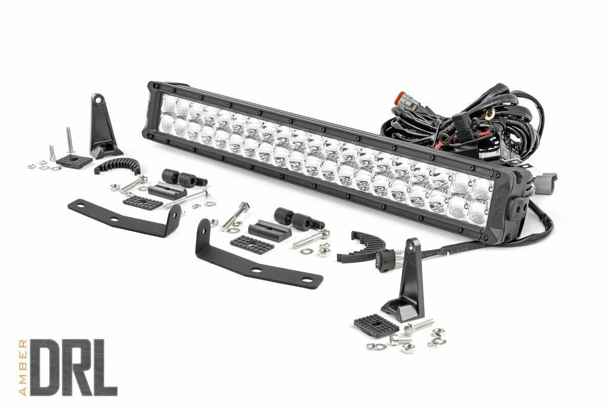 Nissan 20in LED Bumper Kit | Chrome Series w/ Amber DRL (16-20 Titan XD)