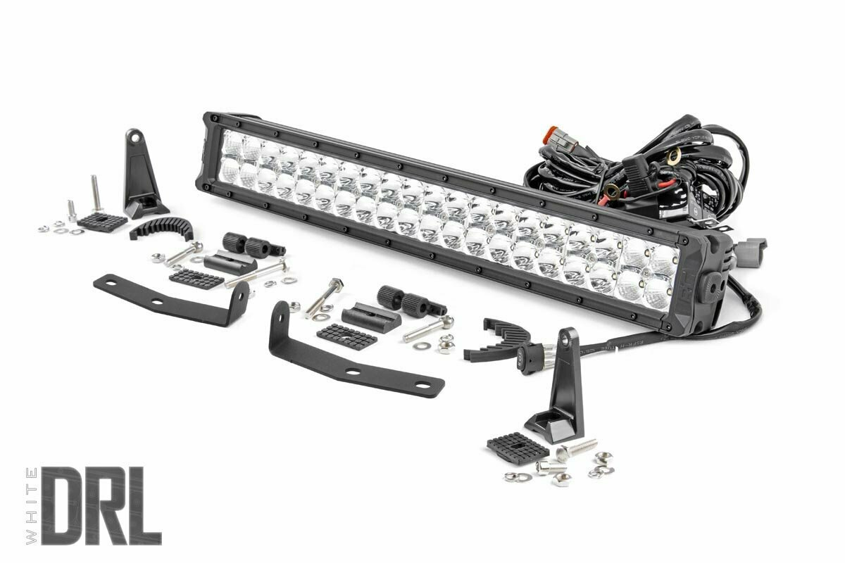 Nissan 20in LED Bumper Kit   Chrome Series w/ White DRL (16-20 Titan XD)