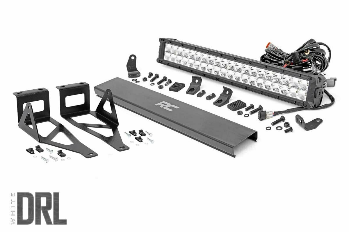 Ford 20in LED Bumper Kit | Chrome Series w/ White DRL (05-07 F-250/350)