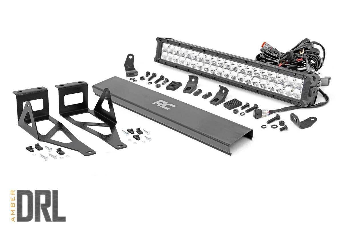 Ford 20in LED Bumper Kit | Chrome Series w/ Amber DRL (05-07 F-250/350)