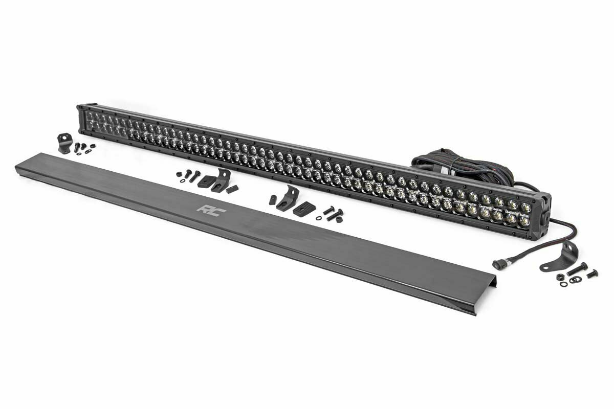 50-inch Cree LED Light Bar - (Dual Row | Black Series w/ White DRL)