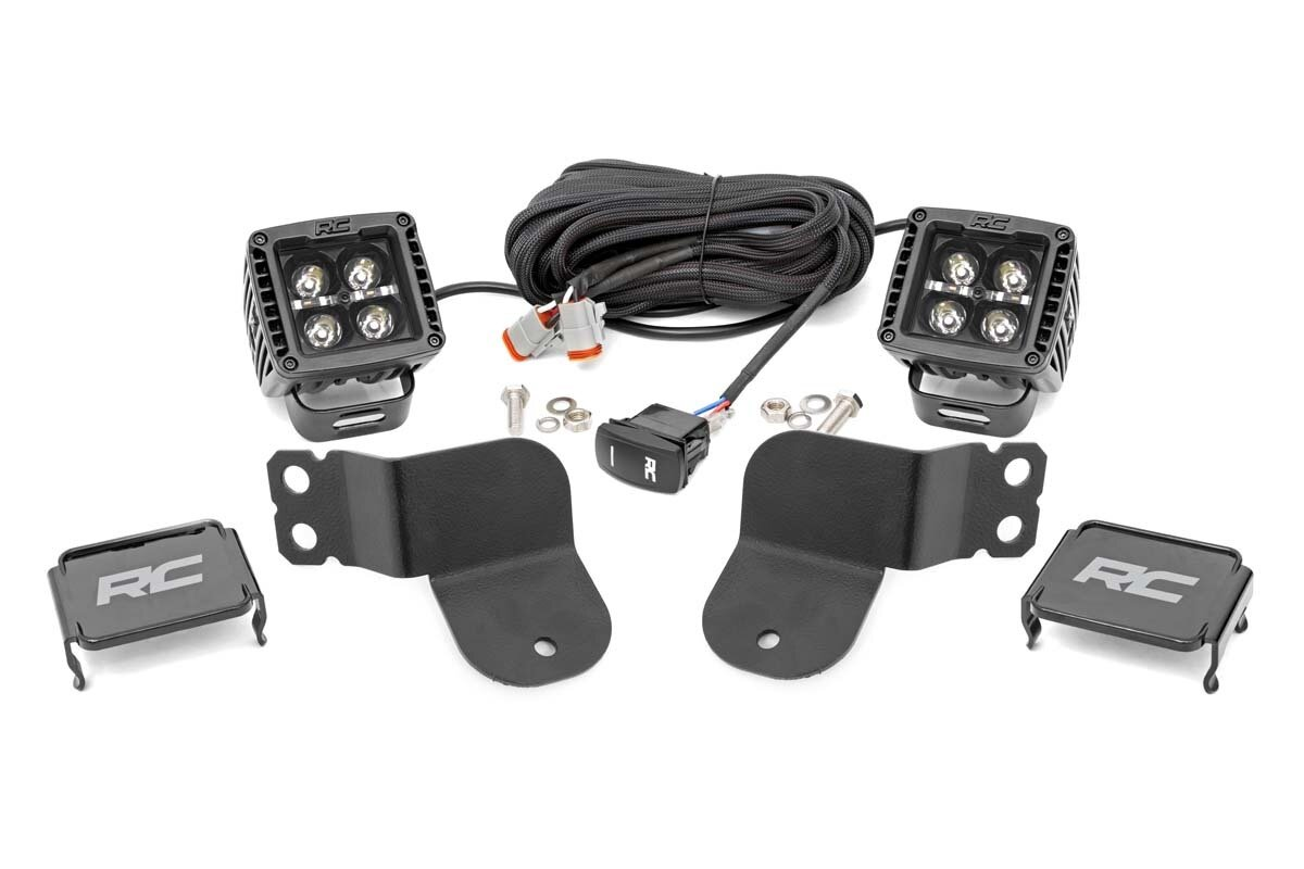 Polaris Dual LED Cube Kit - Black Series w/ Amber DRL (16-20 General)