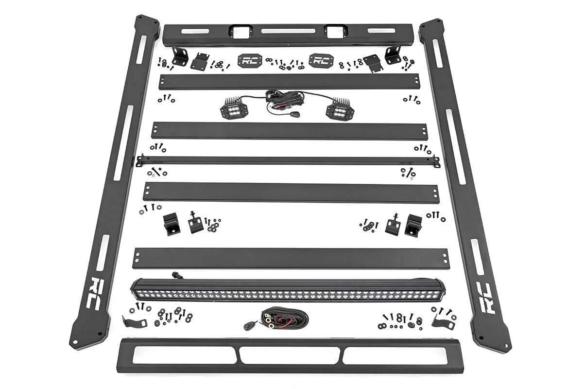 Jeep Roof Rack System w/ Black-Series LED Lights (07-18 JK)