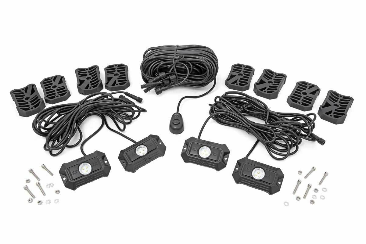Deluxe LED Rock Light Kit - 4 Pods