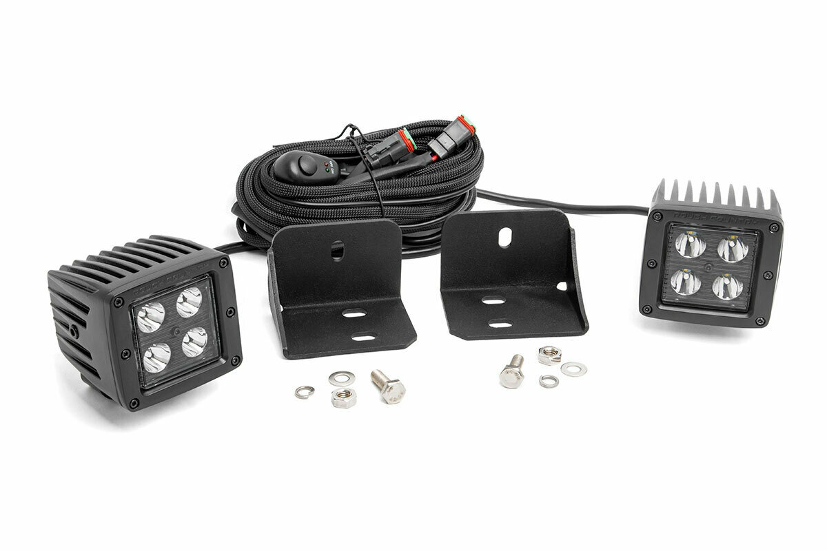 Can-Am Defender Rear Facing 2-inch Black-Series LED Kit (16-20 Defender)