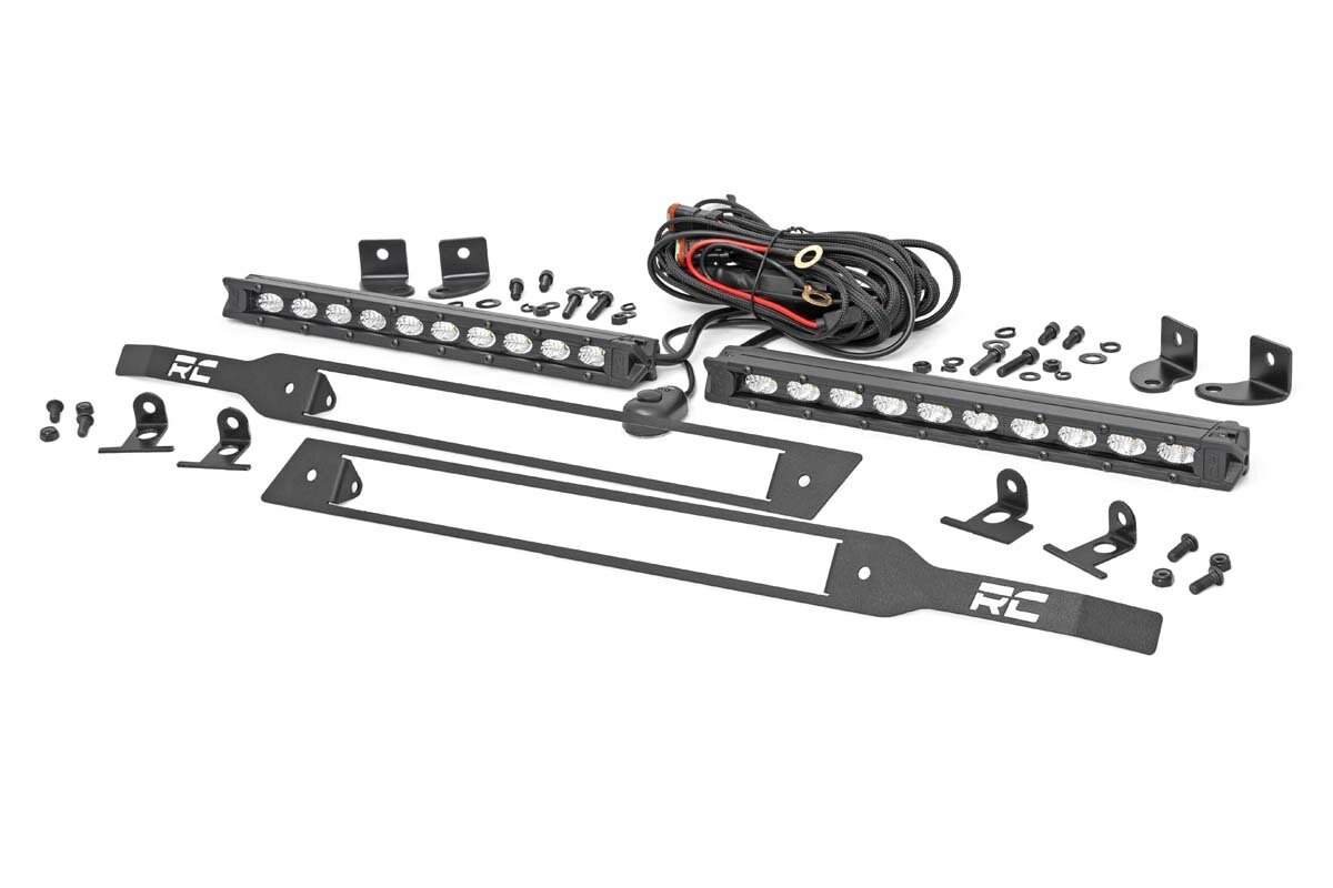 Chevy Dual 10in LED Grille Kit | Black Series (19-20 Silverado 1500)