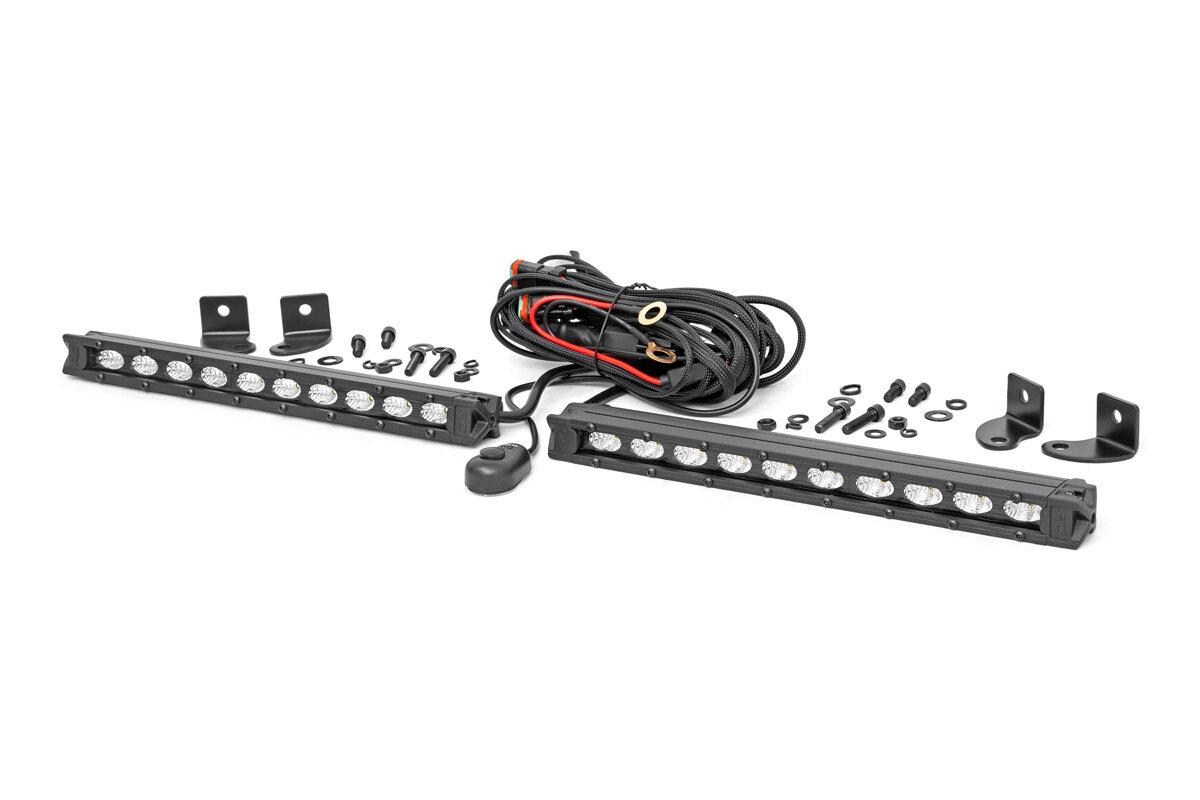 10-INCH SLIMLINE CREE LED LIGHT BARS (PAIR | BLACK SERIES)