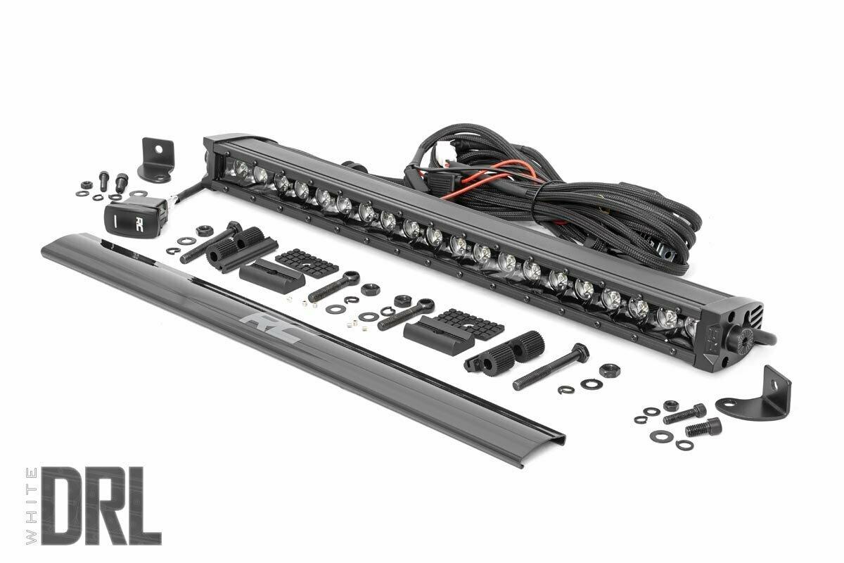 20-inch Cree LED Light Bar - (Single Row | Black Series w/ Cool White DRL)