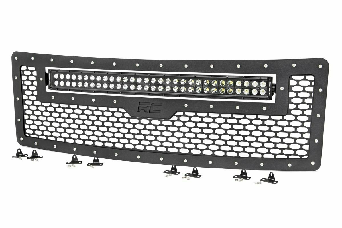 Ford Mesh Grille w/30in Dual Row Black Series LED (09-14 F-150)