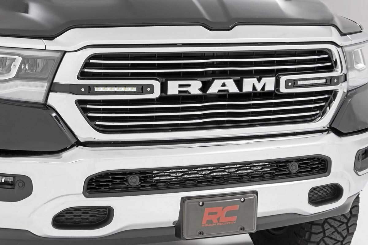 Dodge Dual 6in LED Grille Kit | Chrome Series (19-20 RAM 1500)