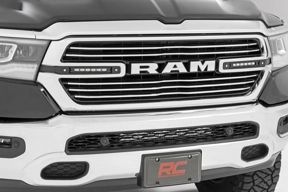 Dodge Dual 6in LED Grille Kit | Black Series (19-20 RAM 1500)