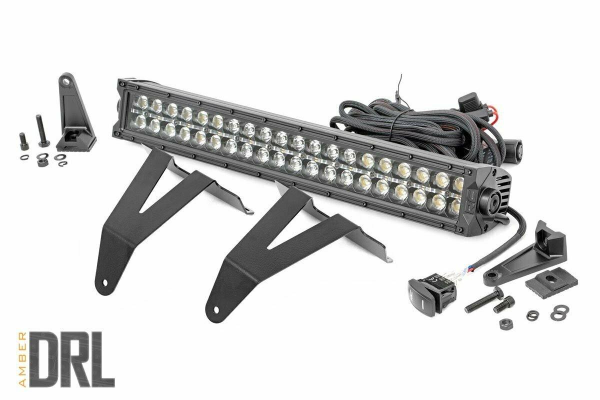 Dodge 20in LED Bumper Kit | Black Series w/ Amber White DRL (19-20 RAM 1500)