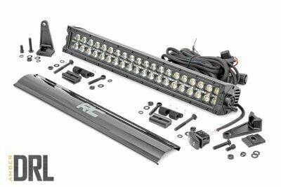 20-inch Cree LED Light Bar - (Dual Row | Black Series w/ Amber DRL)