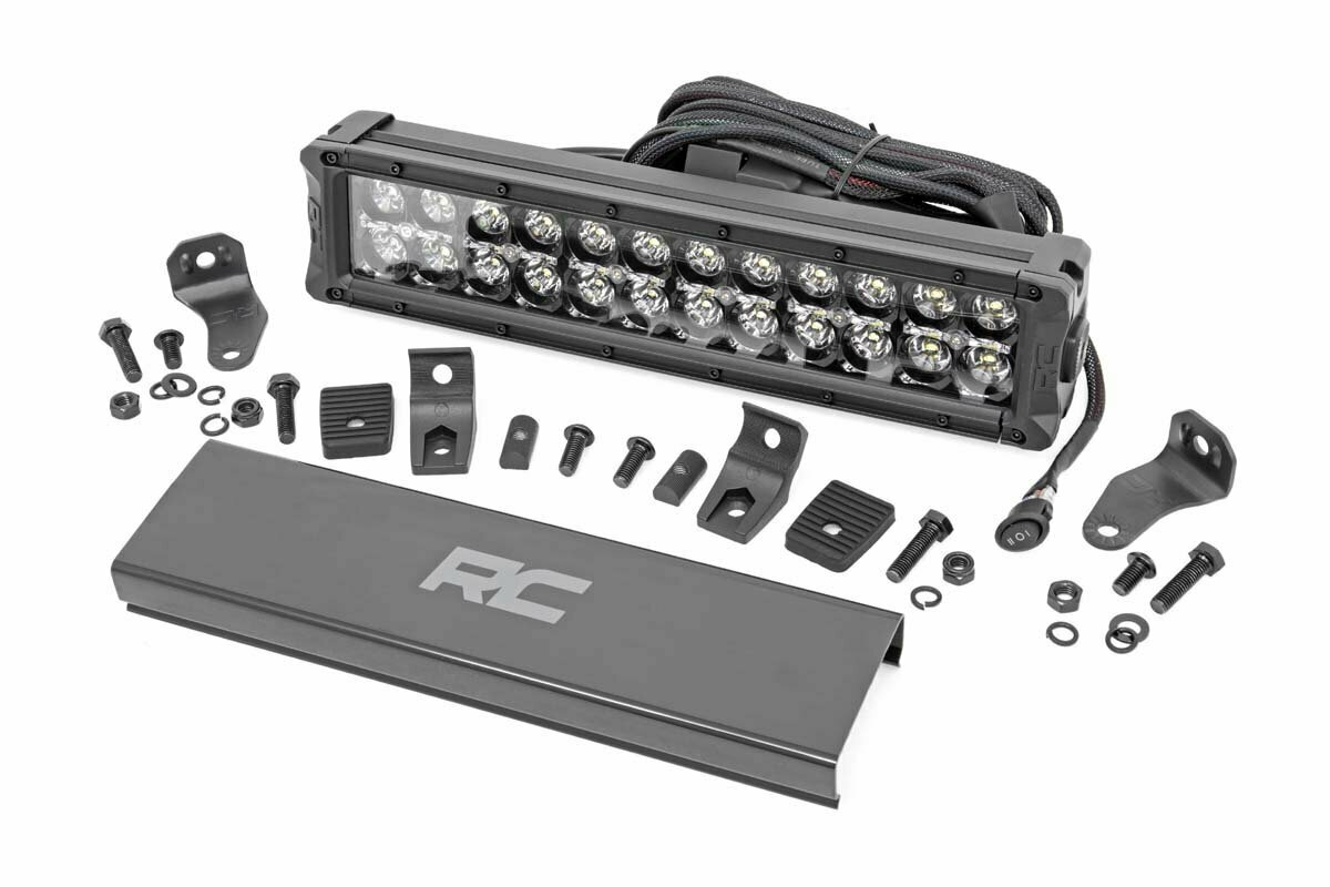 12-inch Cree LED Light Bar - (Dual Row   Black Series w/ Cool White DRL)
