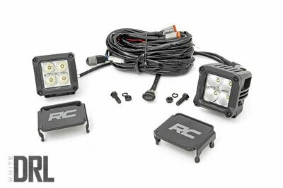 2-inch Square Cree LED Lights - (Pair | Chrome Series w/ Cool White DRL)