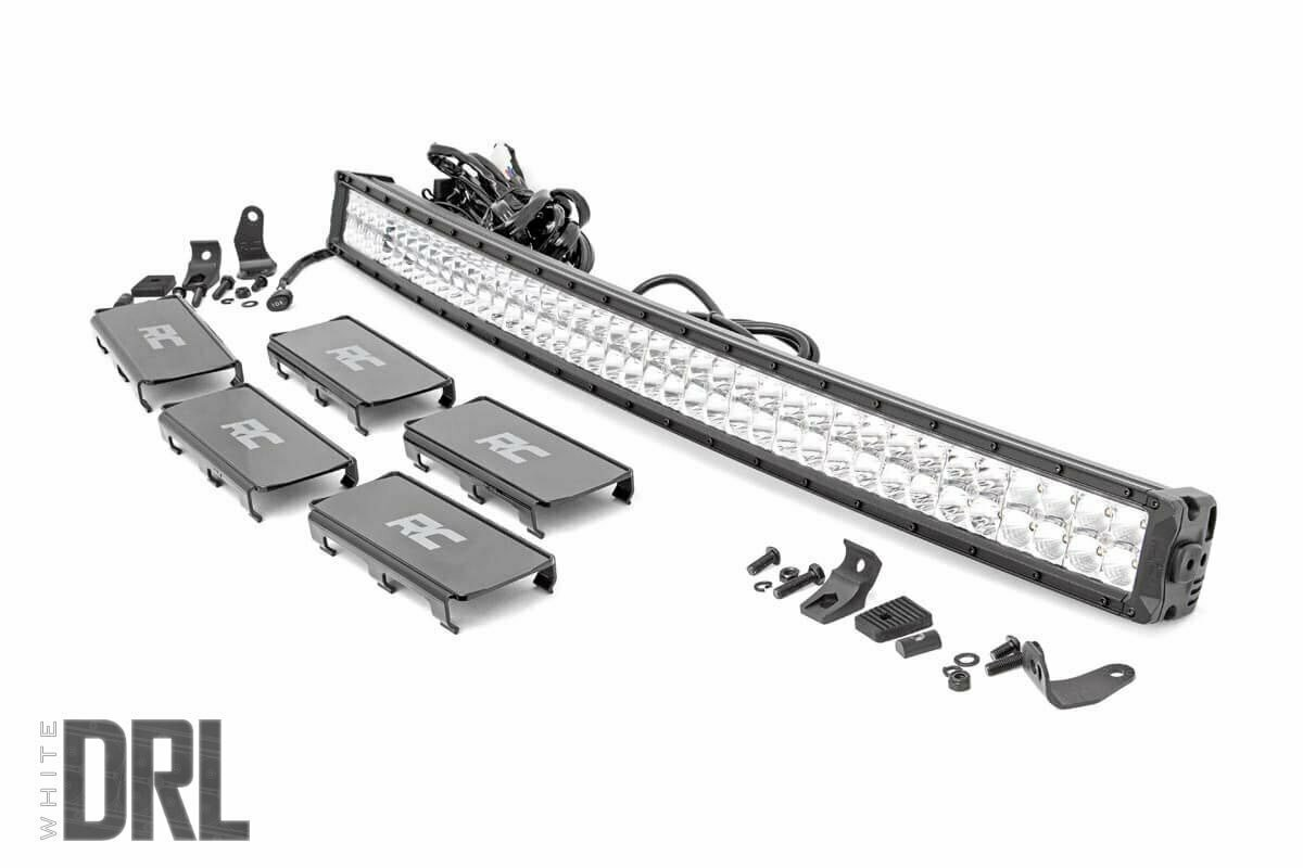 40-inch Curved Cree LED Light Bar - (Dual Row | Chrome Series w/ Cool White DRL)