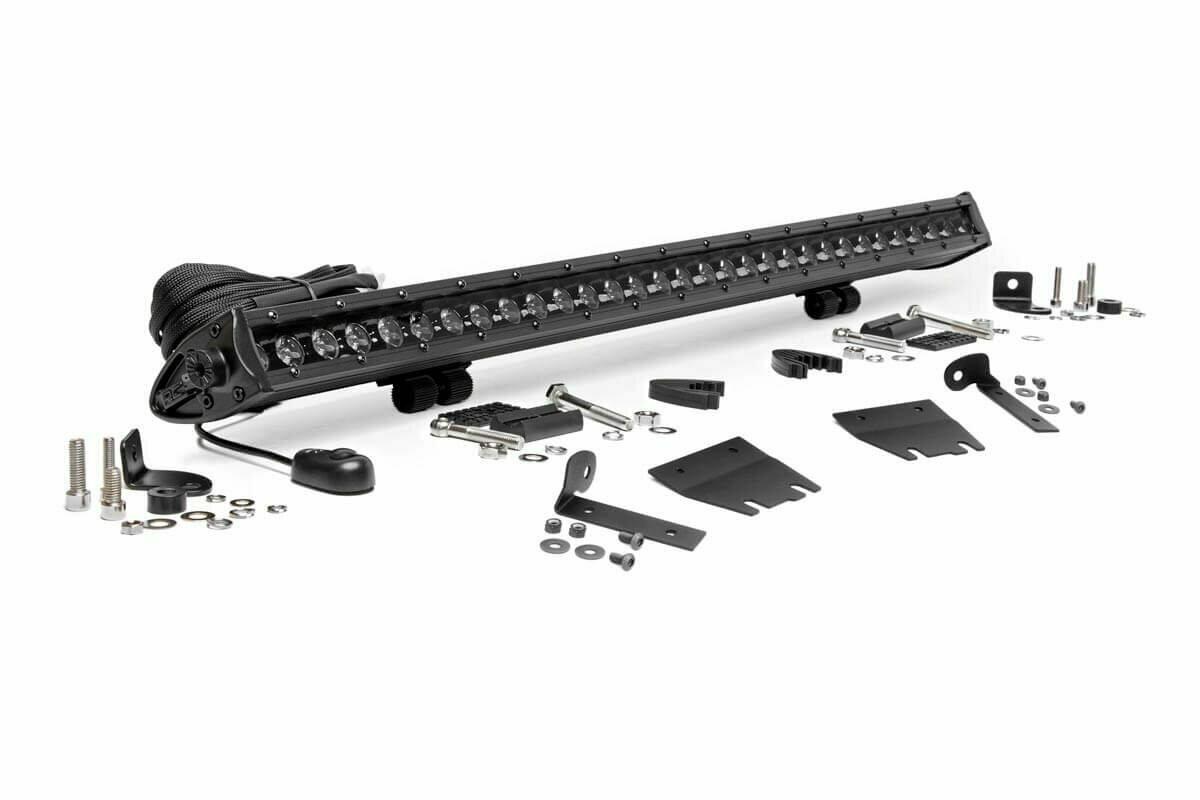 Jeep 30-inch LED Hood Kit (18-20 Wrangler JL, 2020 Gladiator JT | Black-Series)