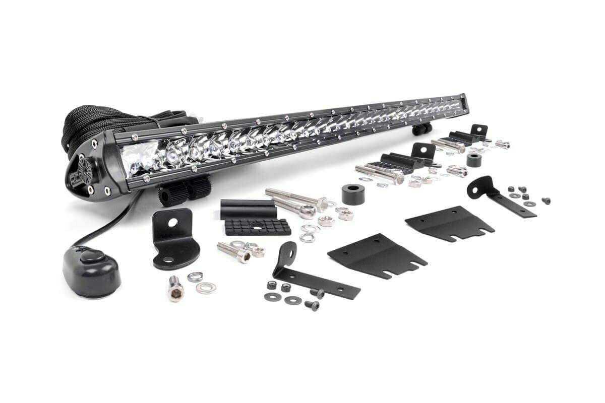 Jeep 30-inch LED Hood Kit (18-20 Wrangler JL, 2020 Gladiator JT   Chrome-Series)
