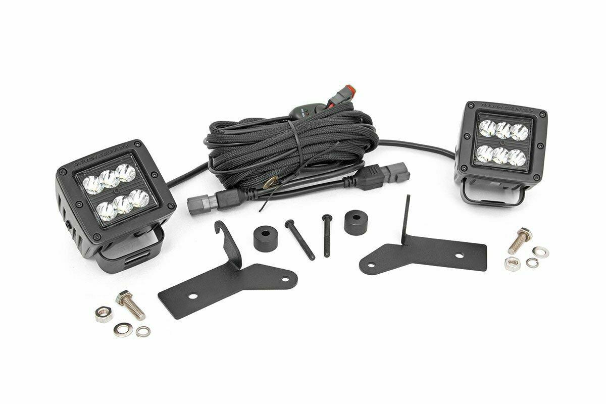 Jeep 2-inch LED Lower Windshield Kit (18-20 Wrangler JL, 2020 Gladiator JT | Black-Series)