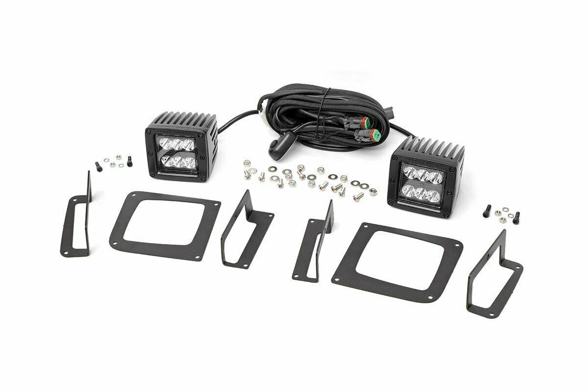GMC 2-inch Cree LED Fog Light Kit (Black Series | 14-15 Sierra 1500)