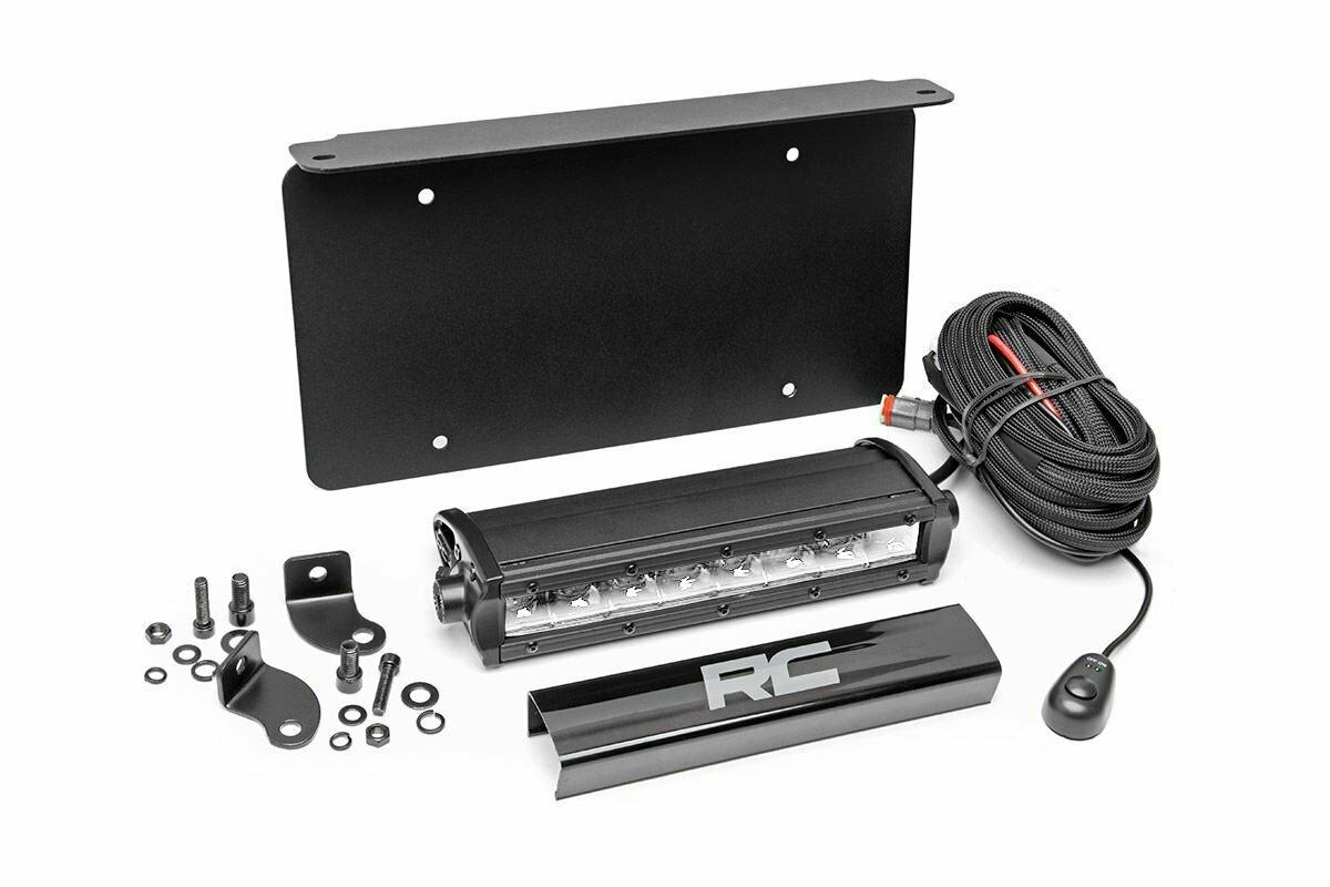 Universal 8in LED License Plate Kit | Chrome Series
