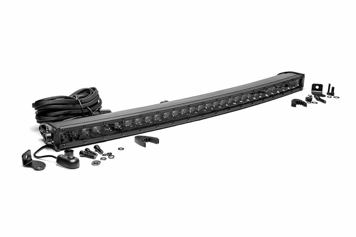 30-inch Curved Cree LED Light Bar - (Single Row | Black Series)