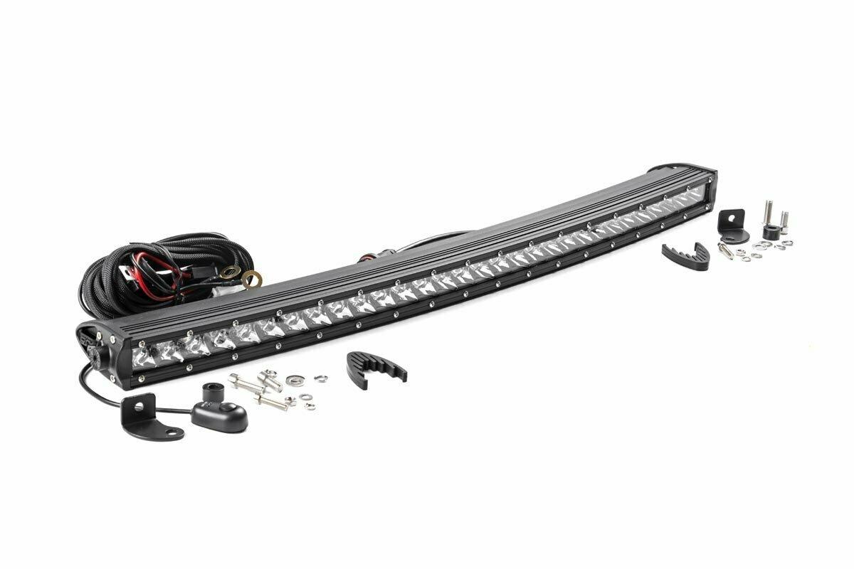 30-inch Curved Cree LED Light Bar - (Single Row   Chrome Series)