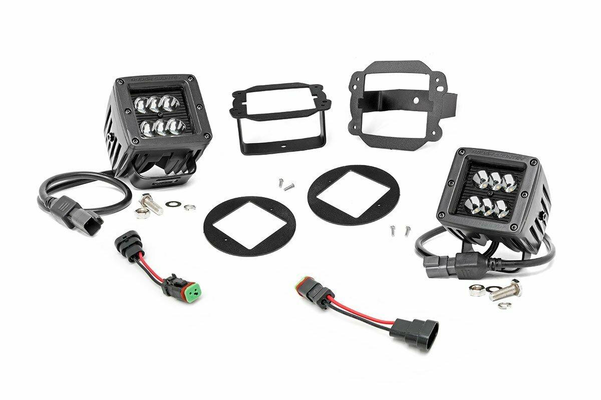 Jeep 2-inch Cree LED Fog Light Kit (Black Series | 10-18 Wrangler JK)