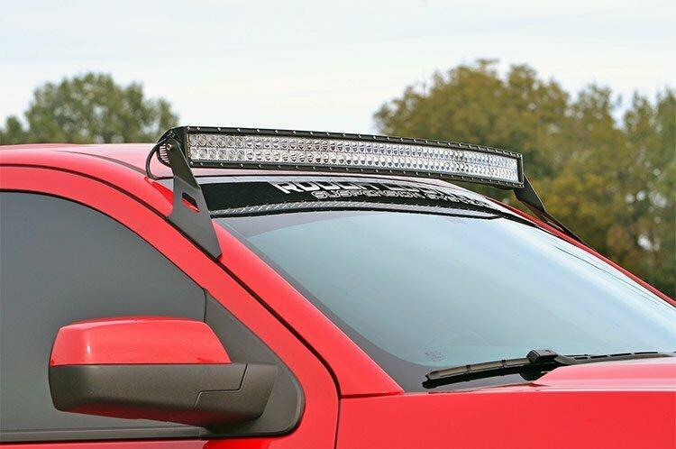 GM 54-inch Curved LED Light Bar Upper Windshield Mounts (15-20 SUVs)