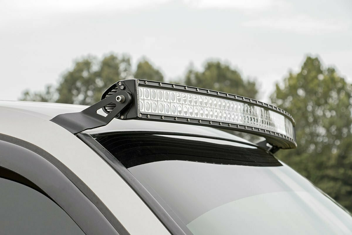 GM 54-inch Curved LED Light Bar Upper Windshield Mounts (99-06 PU/SUV)