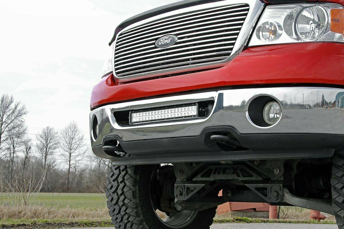 Ford 20-Inch LED Light Bar Hidden Bumper Mounts (06-08 F-150)
