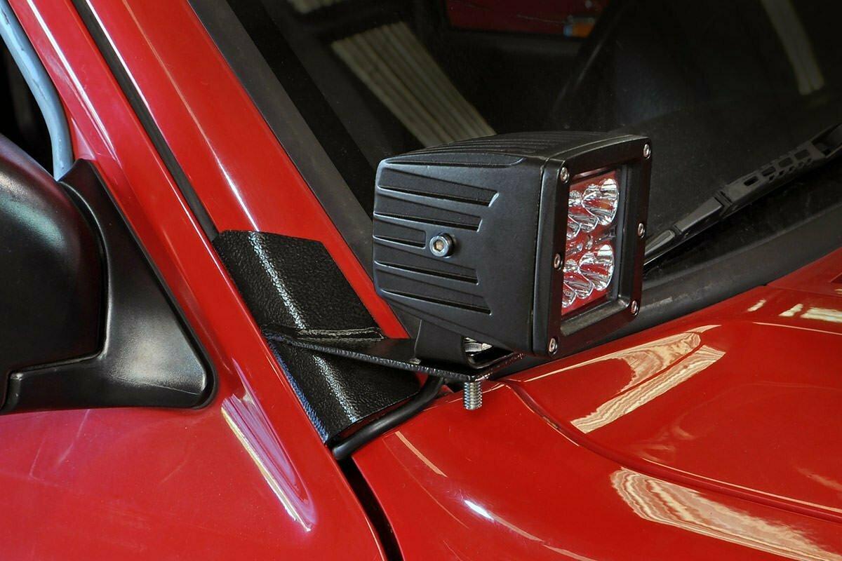 Jeep Lower Windshield Light Mounts (84-01 XJ Cherokee)