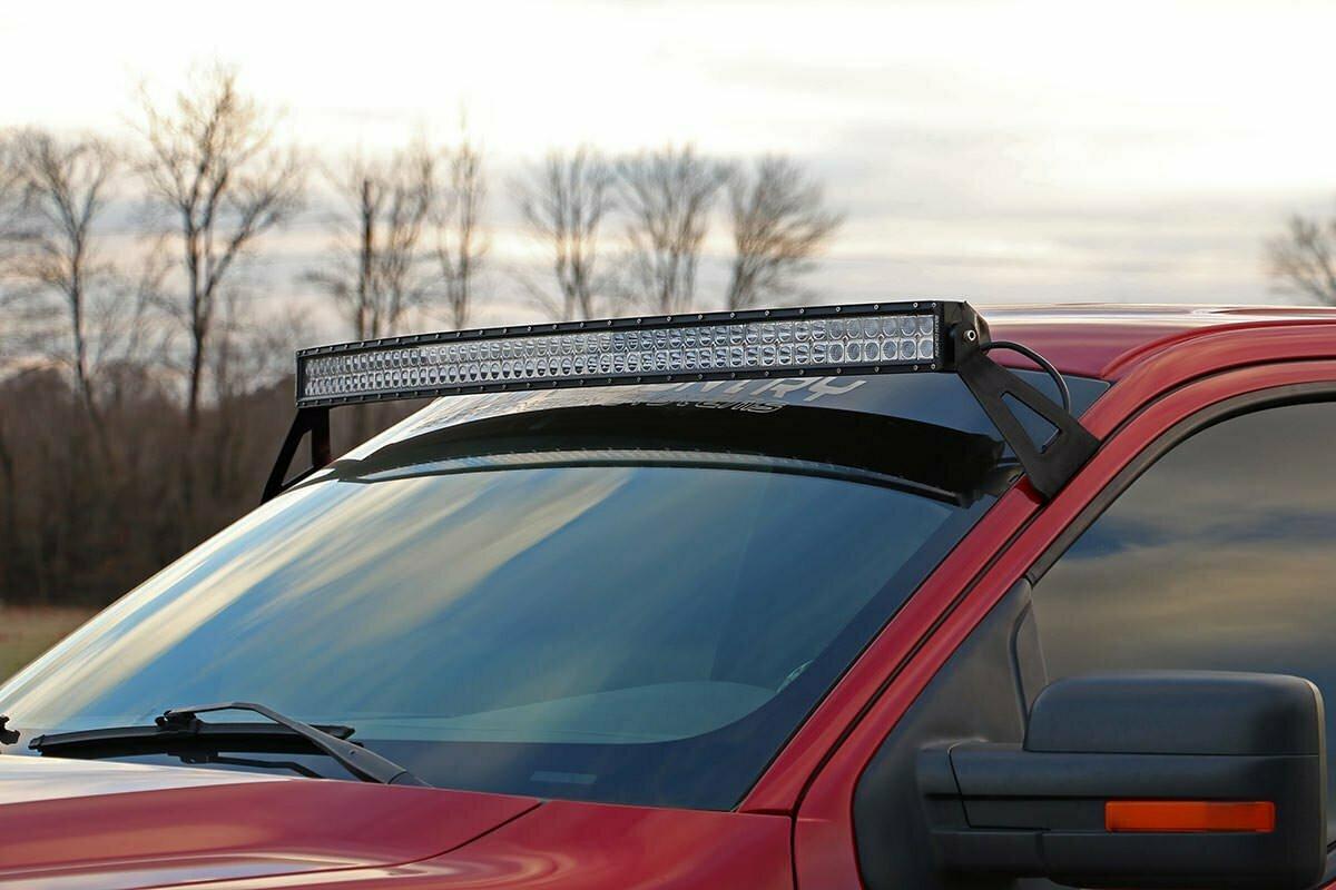 Ford 54-inch Curved LED Light Bar Upper Windshield Mounts (04-14 F-150)