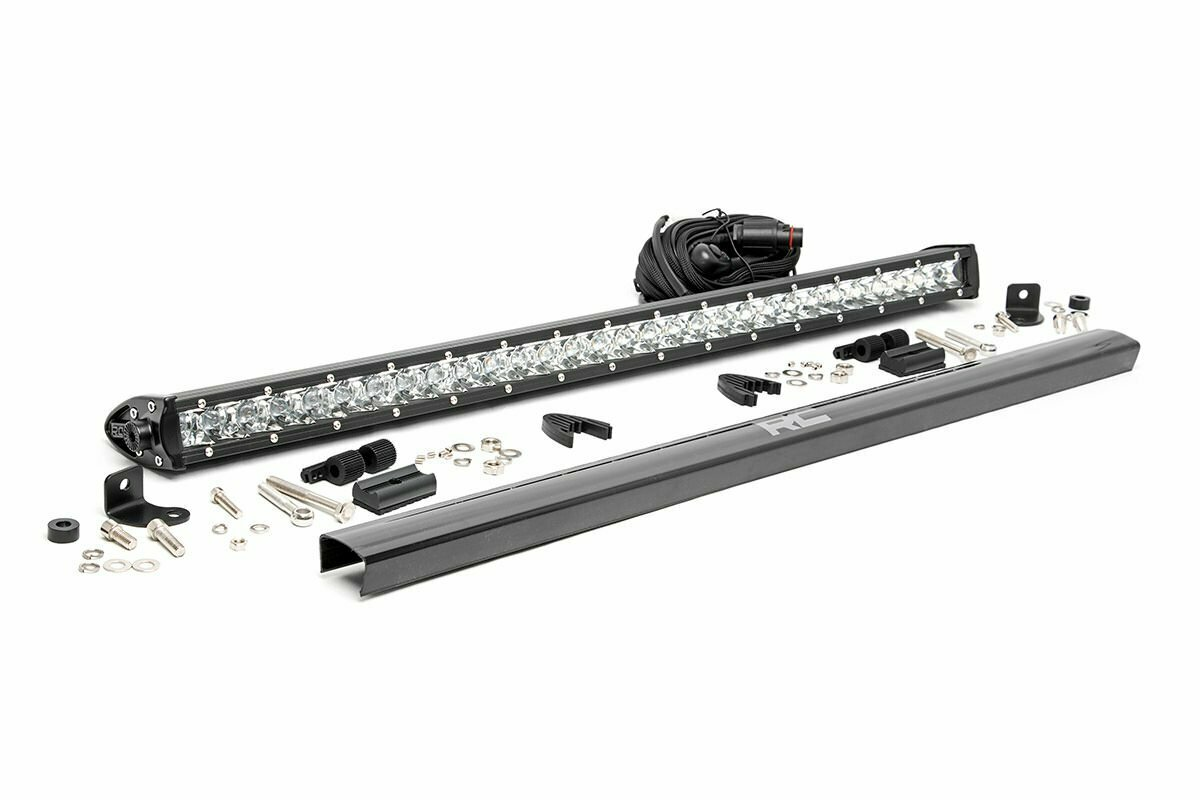 30-inch Cree LED Light Bar - (Single Row   Chrome Series)