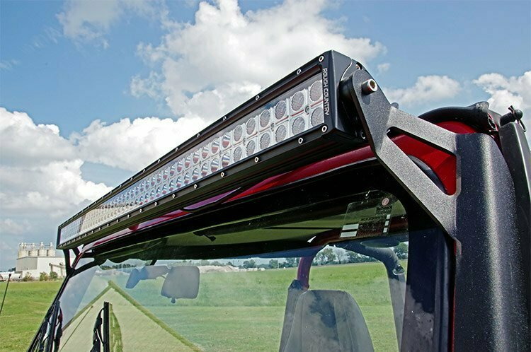 Jeep 50-inch Straight LED Light Bar Upper Windshield Mounts (87-95 YJ)
