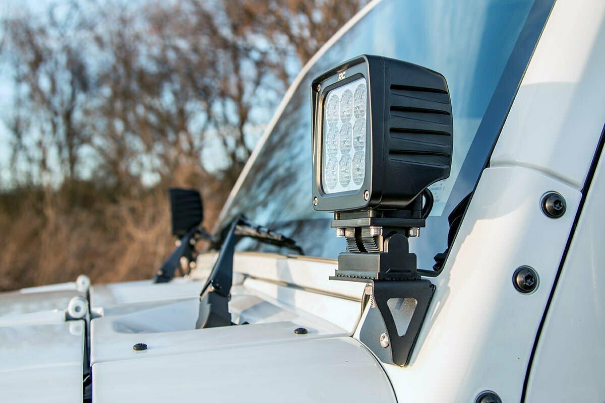 Jeep Lower Windshield Light Mounts (07-18 Wrangler JK)