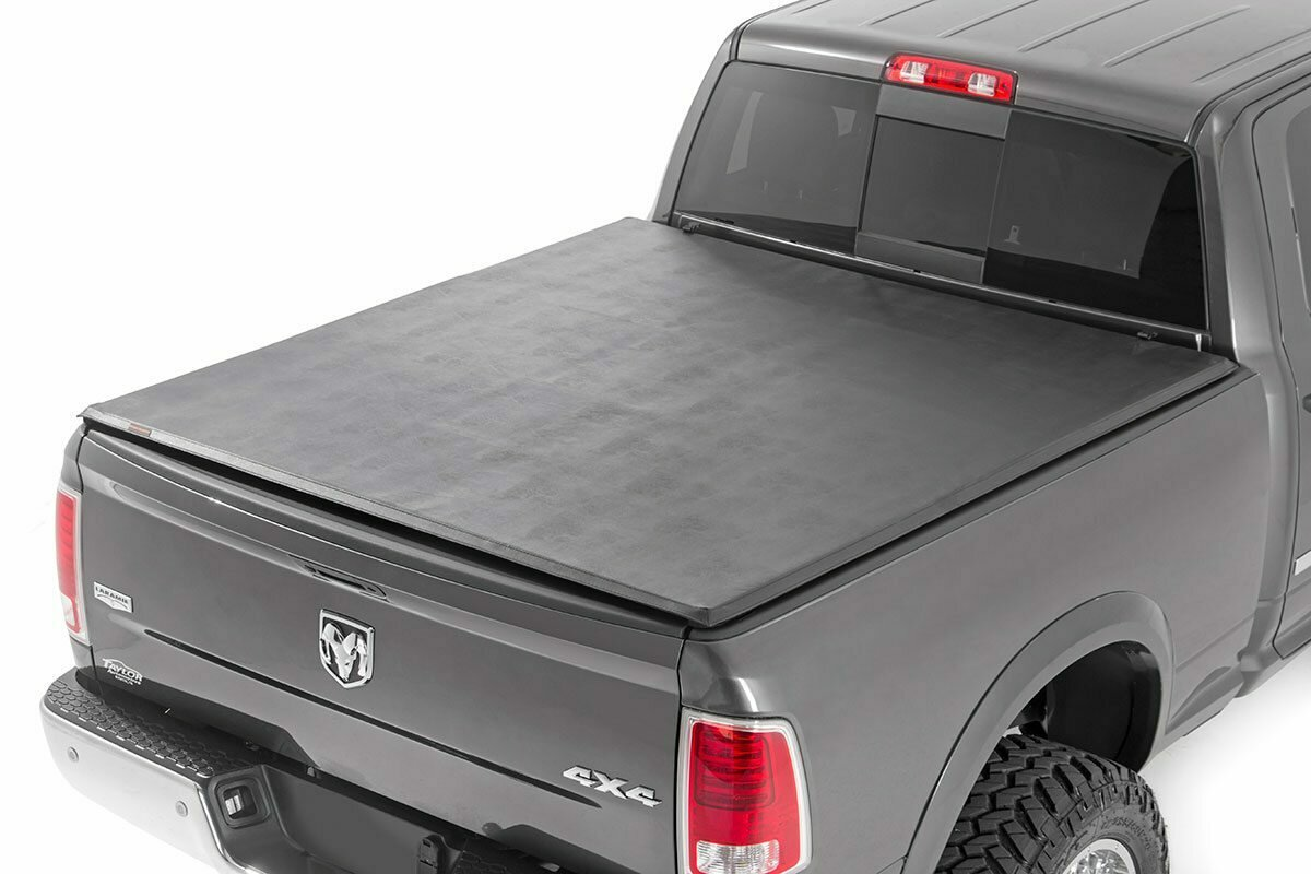 "Dodge Soft Tri-Fold Bed Cover (09-18 Ram 1500 / 09-20 Ram 2500/3500 - 6' 4"" Bed)"