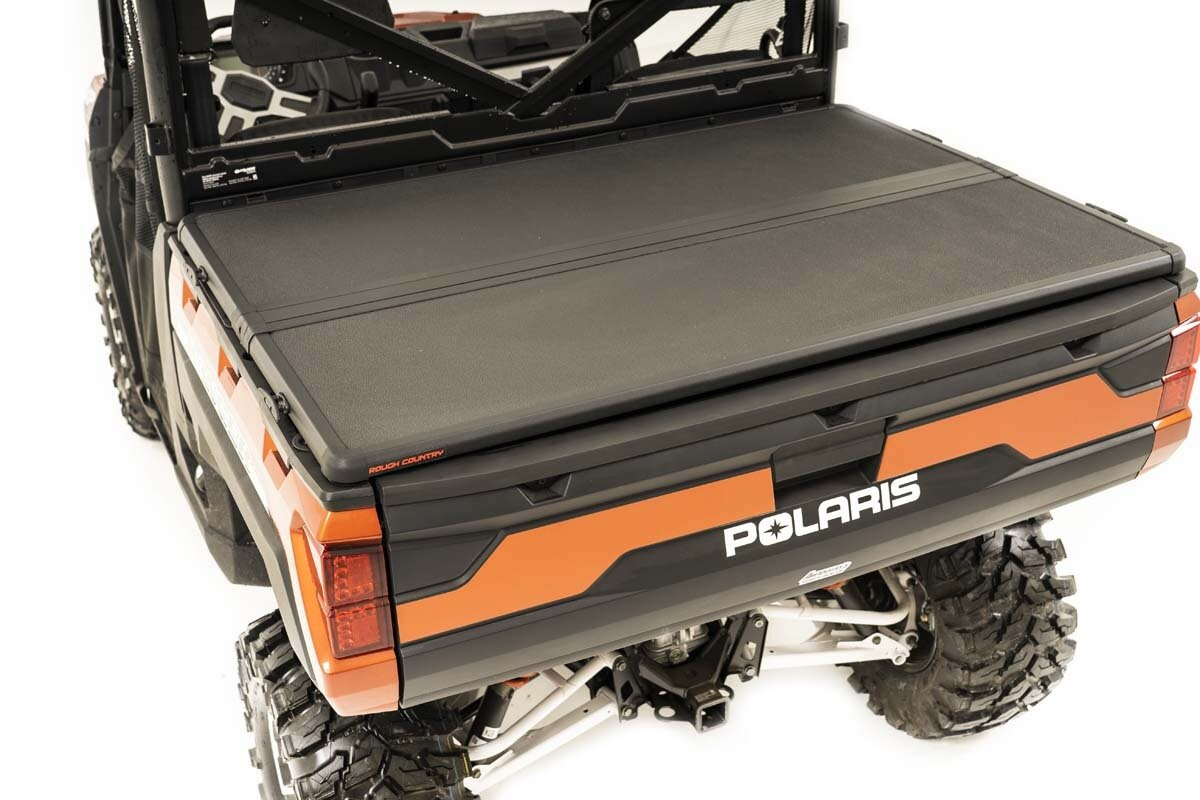 Polaris Hard Folding Bed Cover w/Tailgate Lock (18-20 Ranger 1000XP)