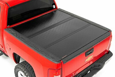GM Low Profile Hard Tri-Fold Tonneau Cover (07-13 1500 | 5.5' Bed W/ Rail Caps)