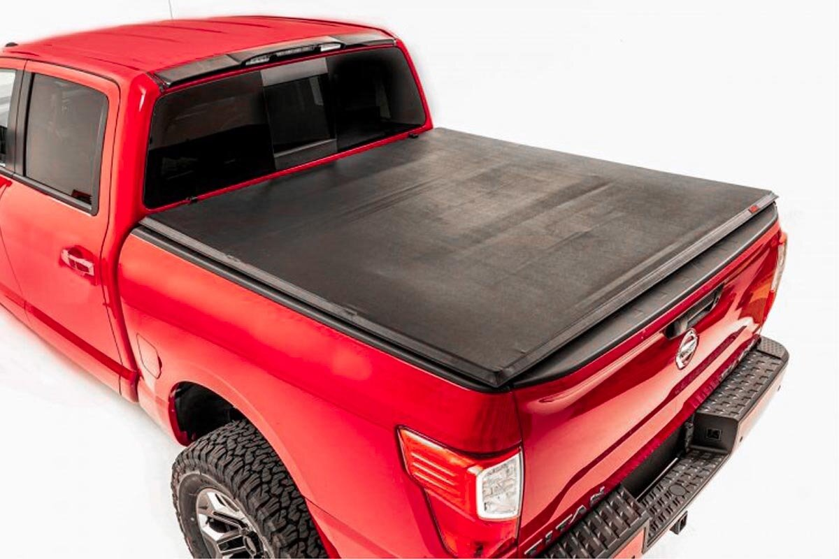 """Nissan Soft Tri-Fold Bed Cover (17-20 Titan -  5' 5"""" Bed w/o Cargo Mgmt)"""