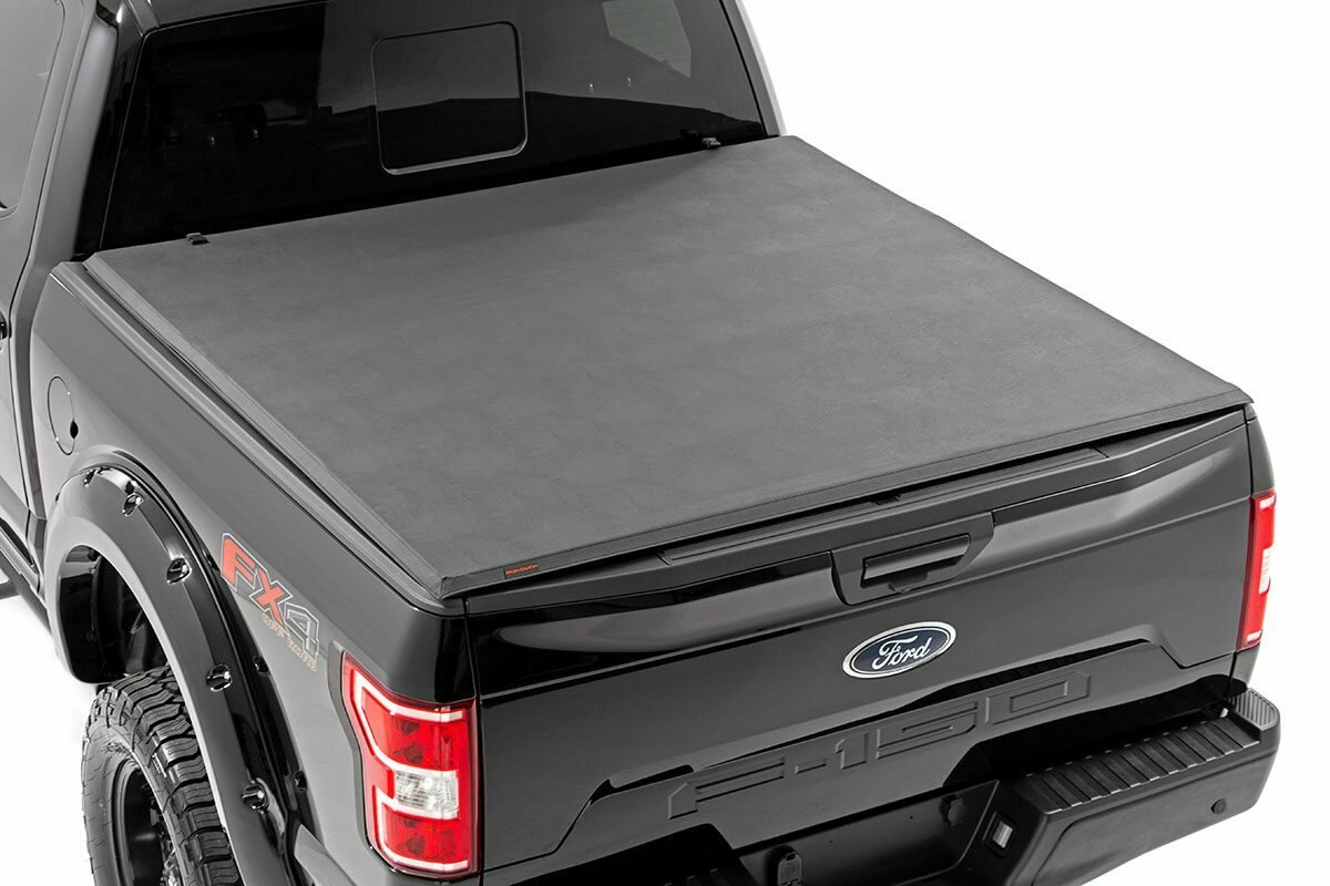 """Ford Soft Tri-Fold Bed Cover (15-20 F-150 - 5' 5"""" Bed)"""