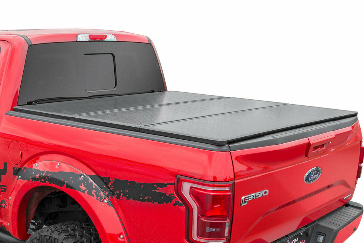 """Ford Hard Tri-Fold Bed Cover (09-14 F-150 - 6' 5"""" Bed w/o Cargo Mgmt)"""