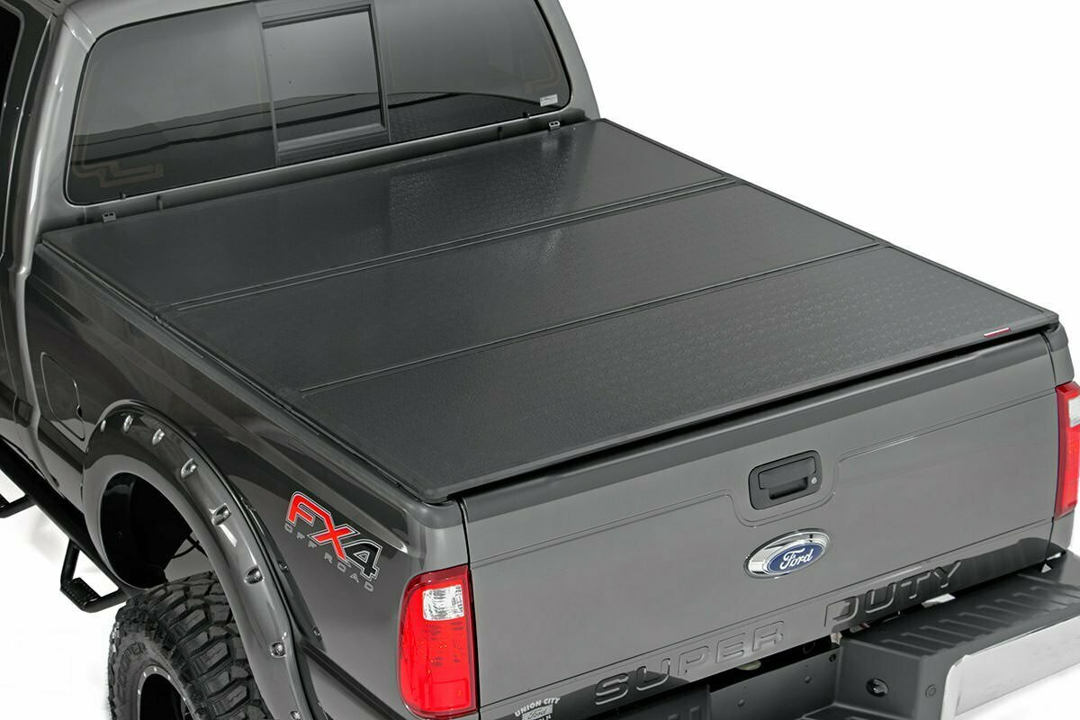 Ford Hard Tri-Fold Bed Cover (99-16 F-250/350 - 6.5' Bed w/o Cargo Mgmt)