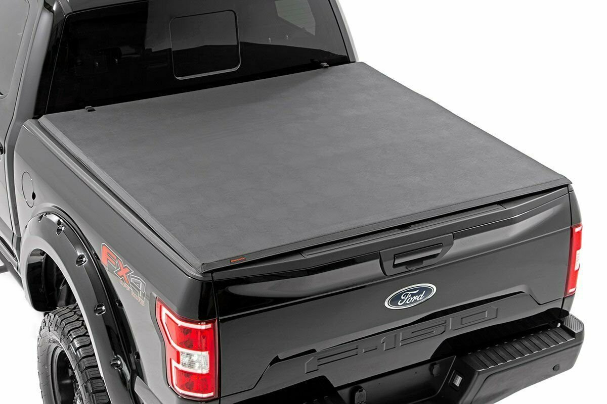 """Ford Soft Tri-Fold Bed Cover (01-03 F-150 - 5' 5"""" Bed)"""