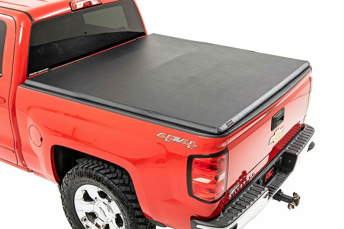 """GM Soft Tri-Fold Bed Cover (1500/2500/3500 PU - 6' 5"""" Bed w/o Cargo Mgmt)"""