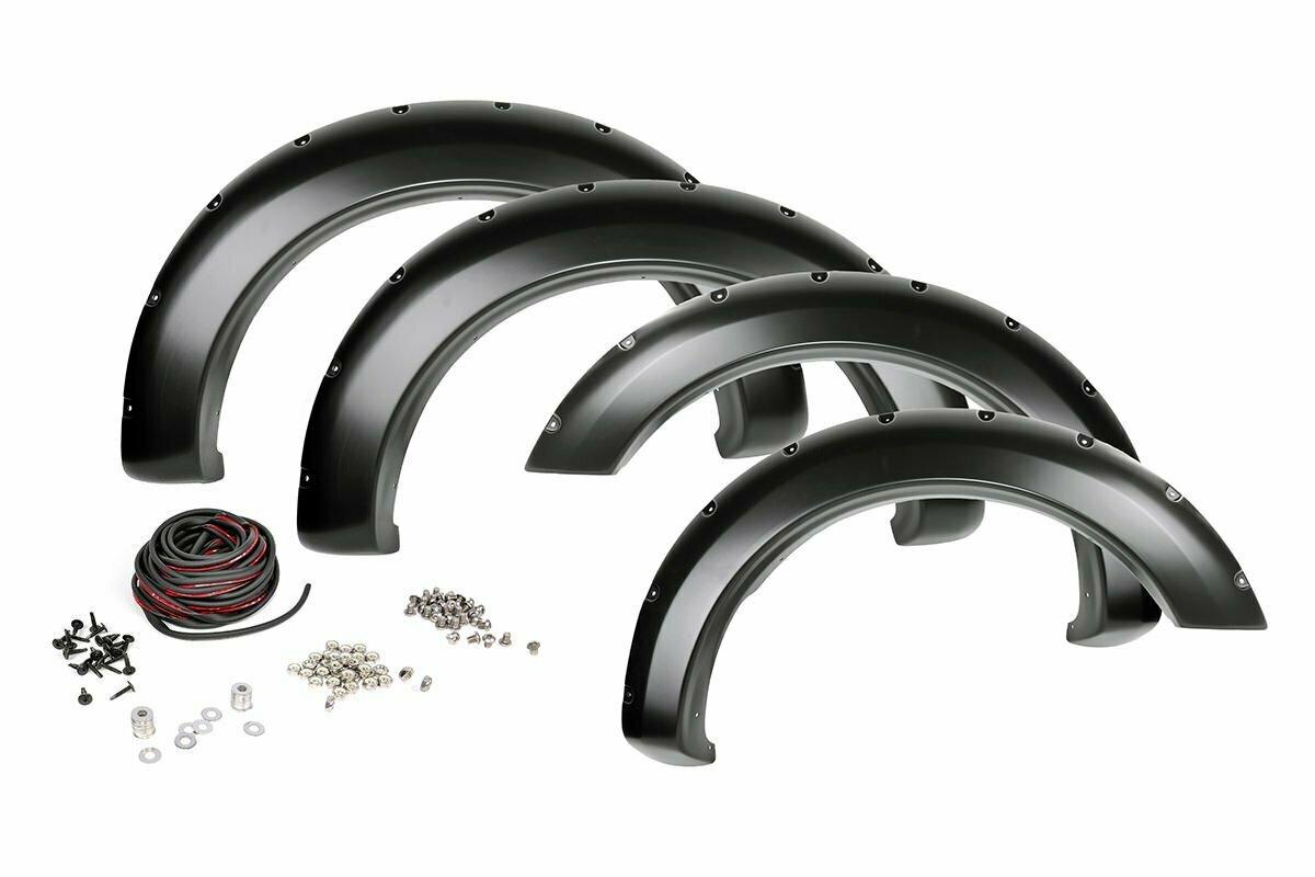 Ford Pocket Fender Flares | Rivets | Shadow Black (17-20 F-250/350)